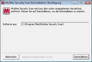 McAfee Security Scan - Uninstaller