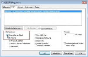 msconfig.exe auf WIndows 7 (und Vista)