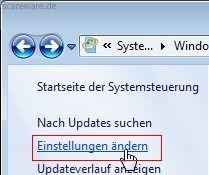 Windows 7: Windows Update Einstellungen ändern