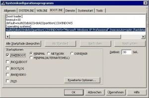 msconfig.exe auf Windows XP (und 2000)