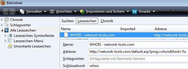 whois-Lesezeichen