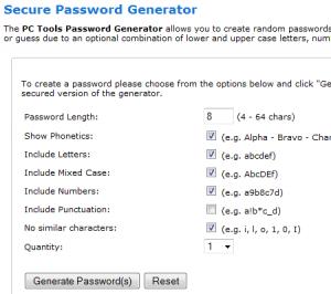 PC-Tools Passwort-Generator