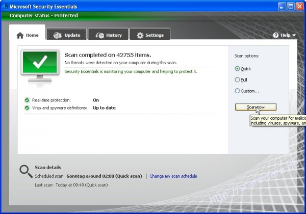 Microsoft Security Essentials (MSE) 2.0 Beta