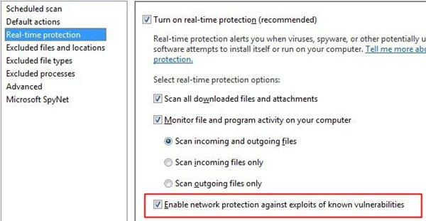 MSE 2.0 (Beta): den Netzwerkschutz gibt es nur auf Windows 7 & Vista