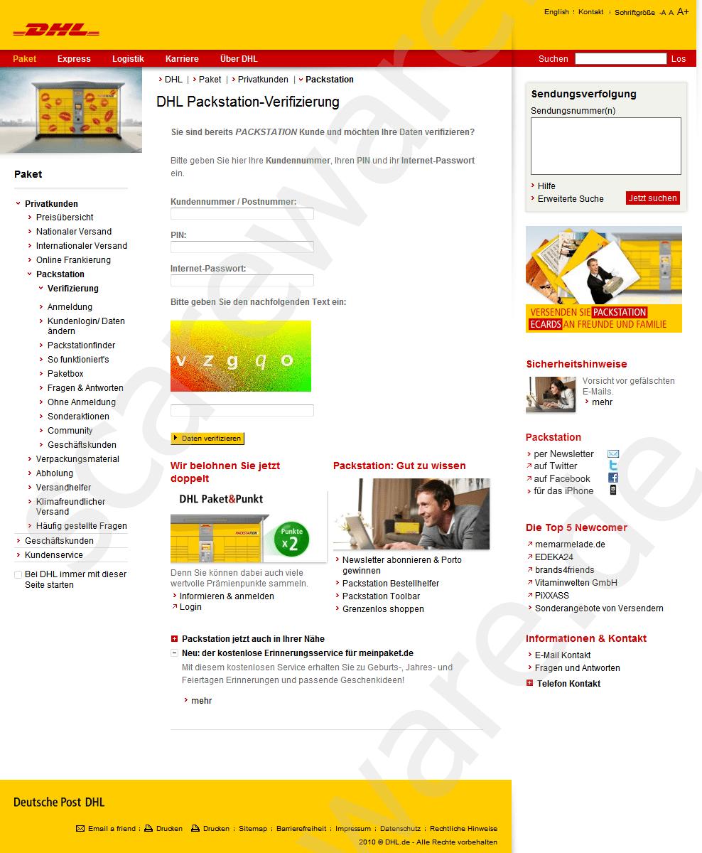 Packstation phishing