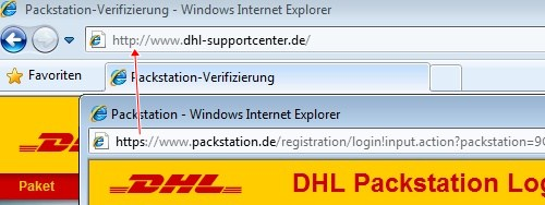 Packstation https Internet Explorer