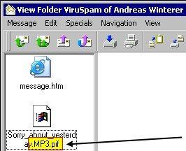 Doppelte Dateierweiterung: .MP3.PIF