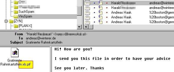 Doppelte Dateiendung: .XLS.PIF