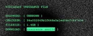 Wikileaks insurance file: insurance.aes256