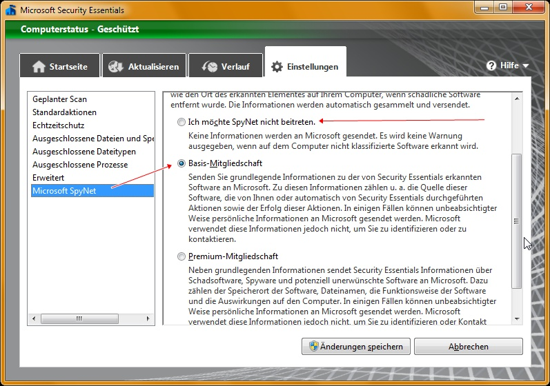 Microsoft Security Essentials 2.0: SpyNet