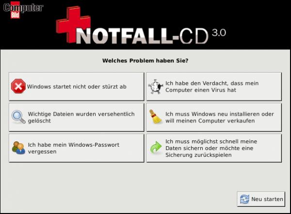 Notfall-CD