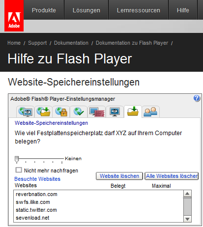 Adobes Flash-Cookies finden, markieren und löschen Sie auch mit diesem Adobe-Flash-Tool