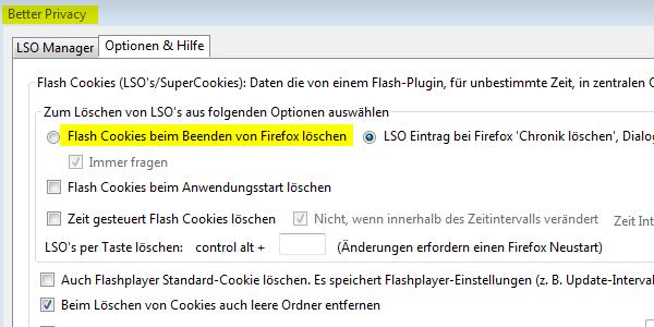 Flash-Cookies kontrollieren: Mit dem Firefox-Plugin BetterPrivacy