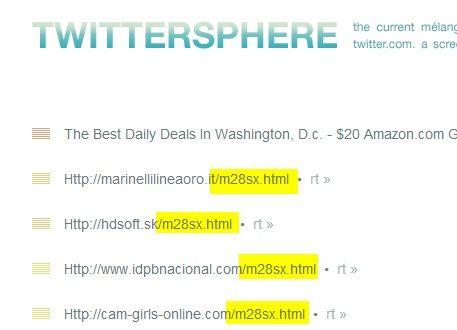 Twittersphere: gespammt mit m28sx.html