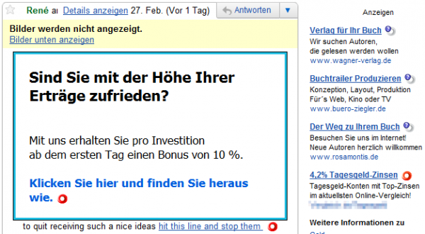 Web Of Trust im Googlemail-Posteingang