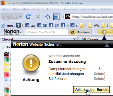 Norton Safe Web Lite Toolbar