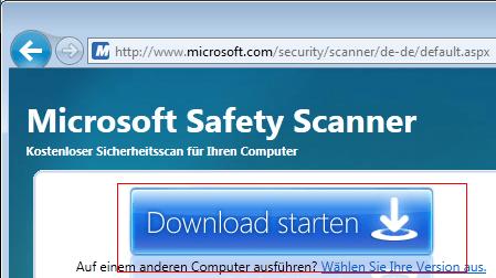 Microsoft Safety Scanner - kostenloser Virenscan