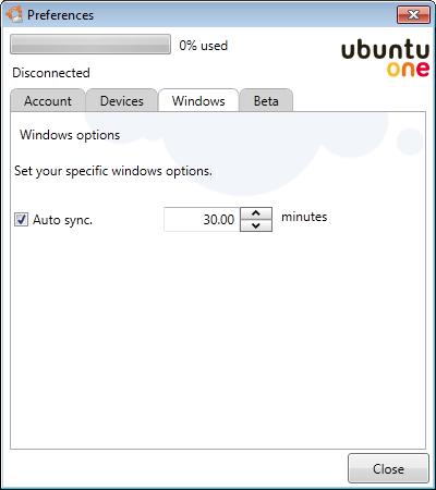 Ubuntu One - Windows-Client