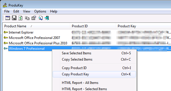 ProduKey: Microsoft Windows & Office Produkt-Schlüssel auslesen