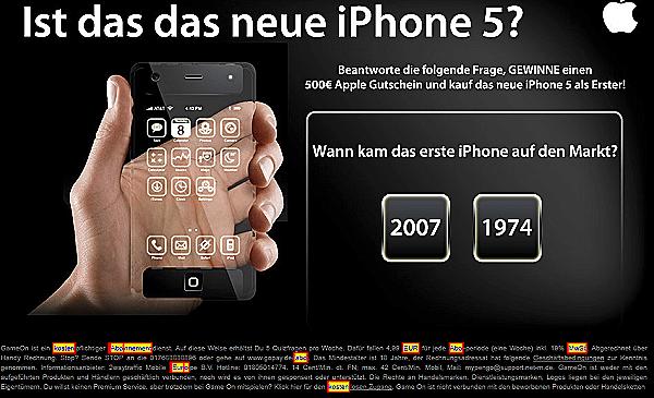 Hotter gehts kaum: das iPhone 5 gibts obendrauf