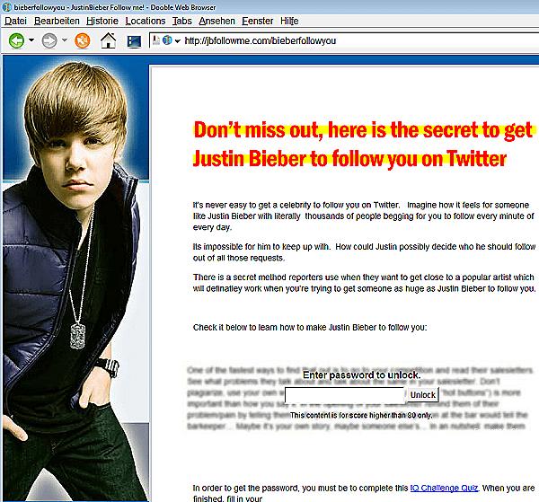 Justin Bieber will uns allen folgen