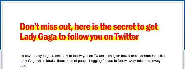 Auch Lady Gaga will uns bei Twitter folgen