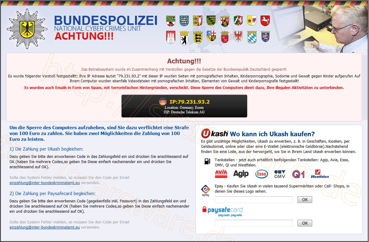 Bundespolizei - National Cyber Crime Unit - Achtung!!!