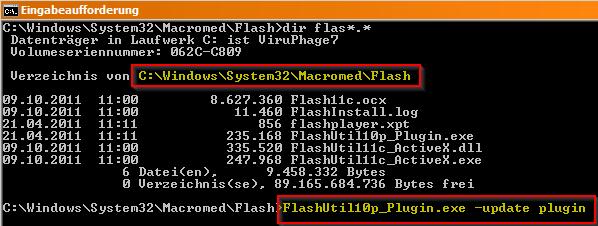 Flash-Update, manuell