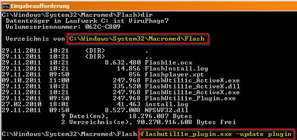 Flash Plugin manuell aktualisieren