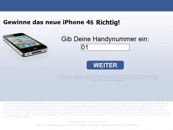 Gewinne das neue iPhone 4S