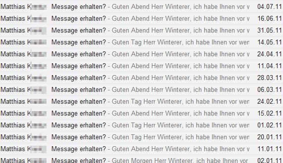 Matthias K.: Message erhalten?