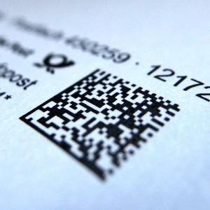 Brief mit QR-Code
