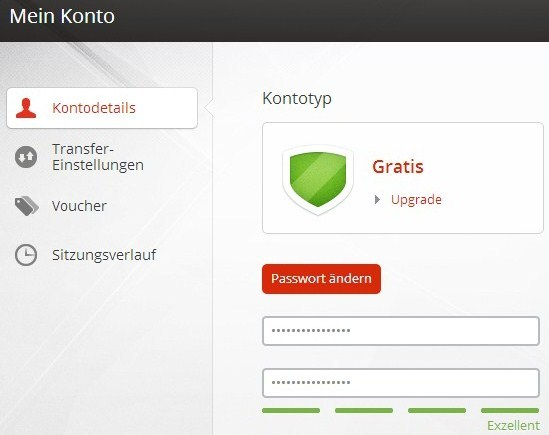 MEGA Passwort ändern