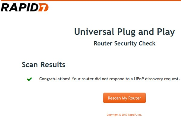 UPnP Router Scan