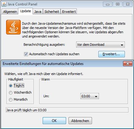 Java-Update täglich