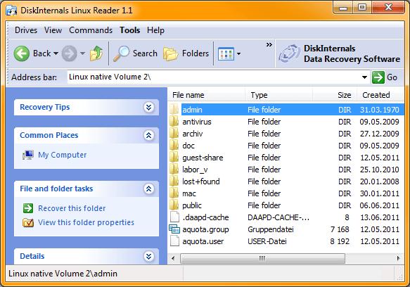 Von Windows aus Daten aus Linux-Partitionen lesen