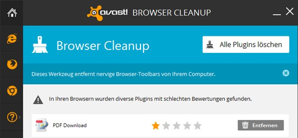 avast Brower Cleanup