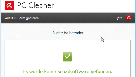 Avira PC Cleaner: Virenscanner