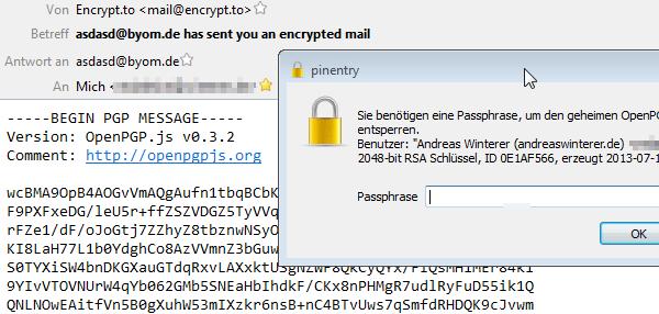 mit encrypt.to verschlüsselte Mail
