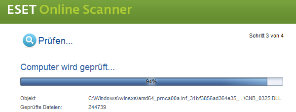 Eset Online Scanner: Virenprüfung