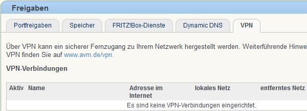 Fritz!Box: VPN