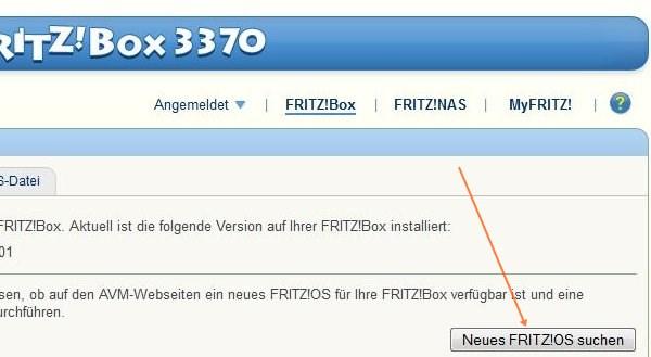 Fritz!Box Update suchen