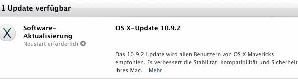 Mac OSX 10.9.2 Update