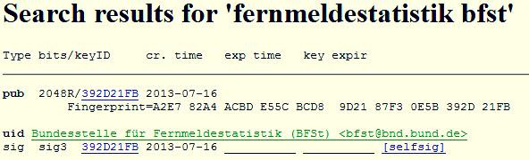 Bundesstelle für Fernmeldestatistik (BFSt)