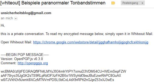 So siehts in Google Mail aus