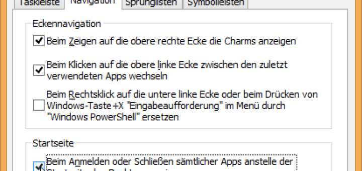 Windows-8.1-Desktop ohne Kacheln starten