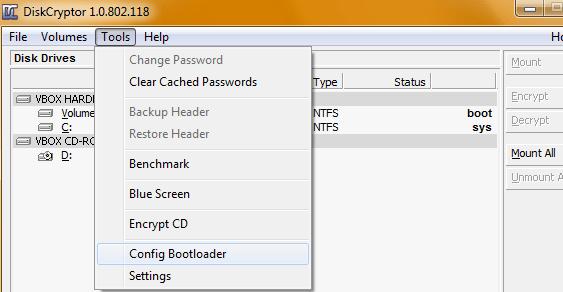 DiskCryptor: Bootloader