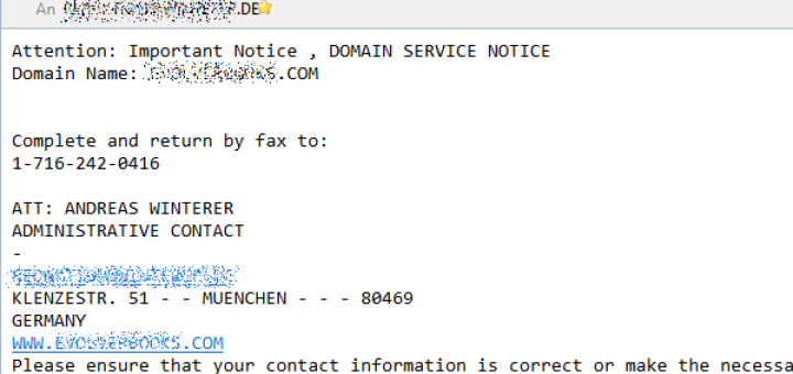 Domain Notification: Final Notice of Domain Listing