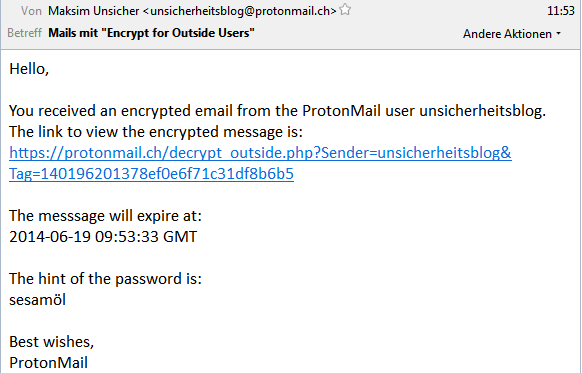 'encrypted email from ProtonMail'