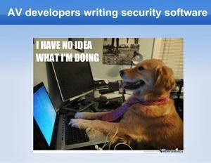 Ganz so schlimm ist es wohl nicht, aber das Bild (aus dem PDF) ist einfach zu lustig ...
